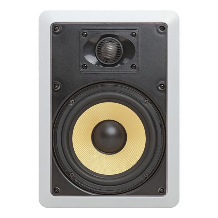 6.5 Surround Sound 2-Way In-WallIn-Ceiling Kevlar Speakers (Pair) - Rectangular