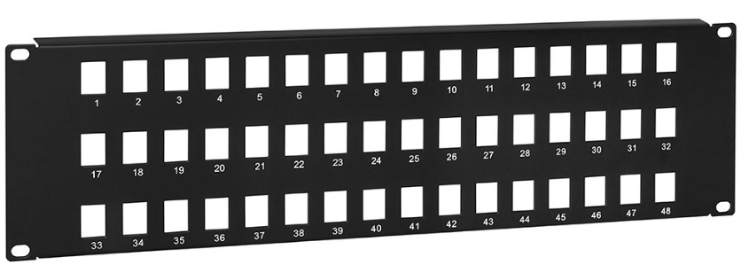 Blank Keystone Patch Panel, 48 port, 19 x 3U