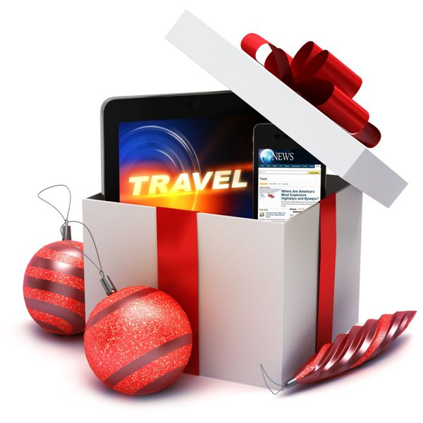 Holiday present with electronic gifts