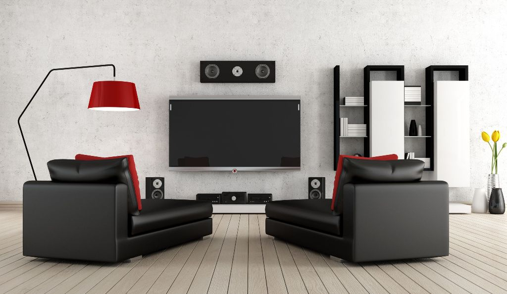 Living Room with home equipment