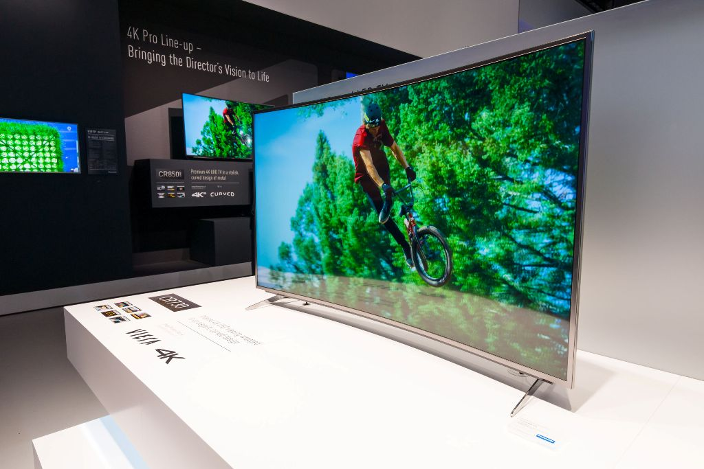 OLED TV on stand