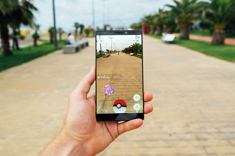 Pokemon Go on a smart phone