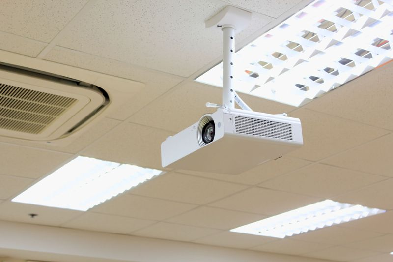 Projectors in office
