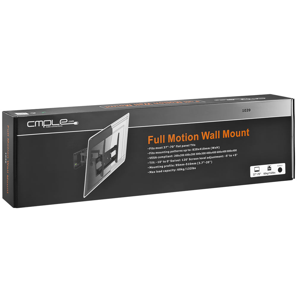 Heavy duty full motion wall mount 37-70-lcdled-tvs