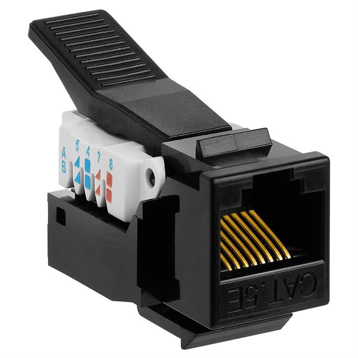 Picture of Cat5e RJ-45 Tooless Keystone Jack - Black