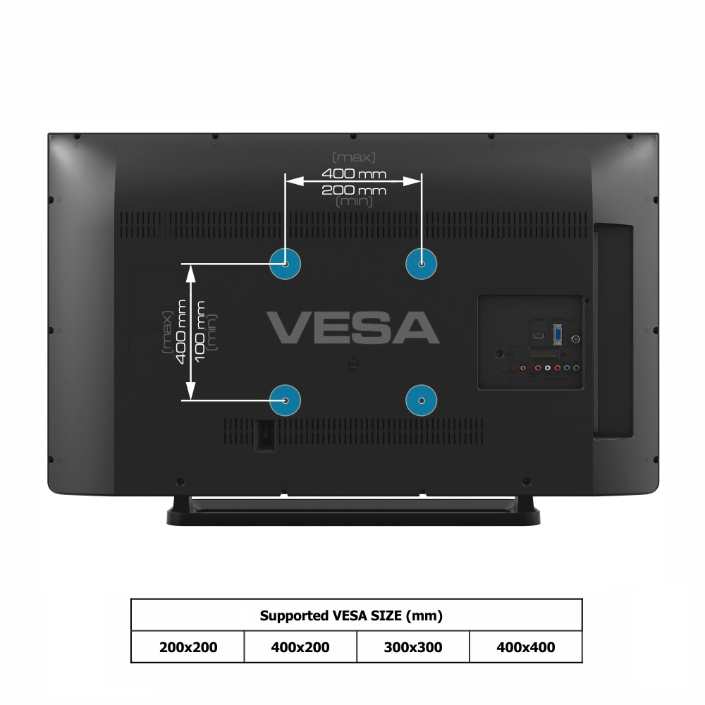 Low Profile Tilting Wall Mount For 32 55 Flat Panel Tvs
