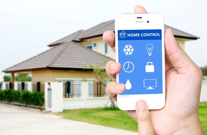 smart phone with smart home application