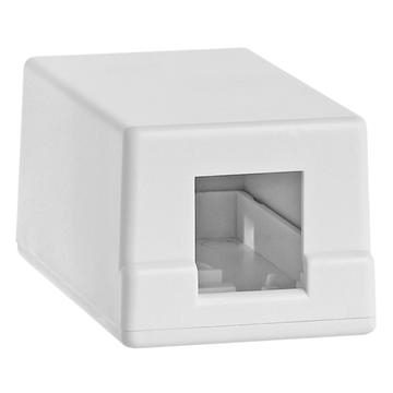 1 Port Keystone Jack Surface Mount Box -White