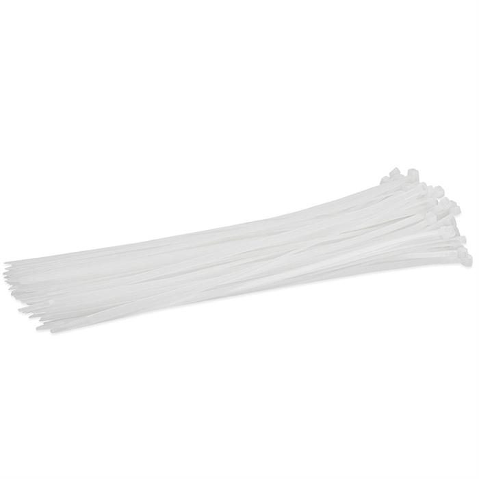 "12"" 50-lbs Cable Tie, Pack of 100 - Clear"