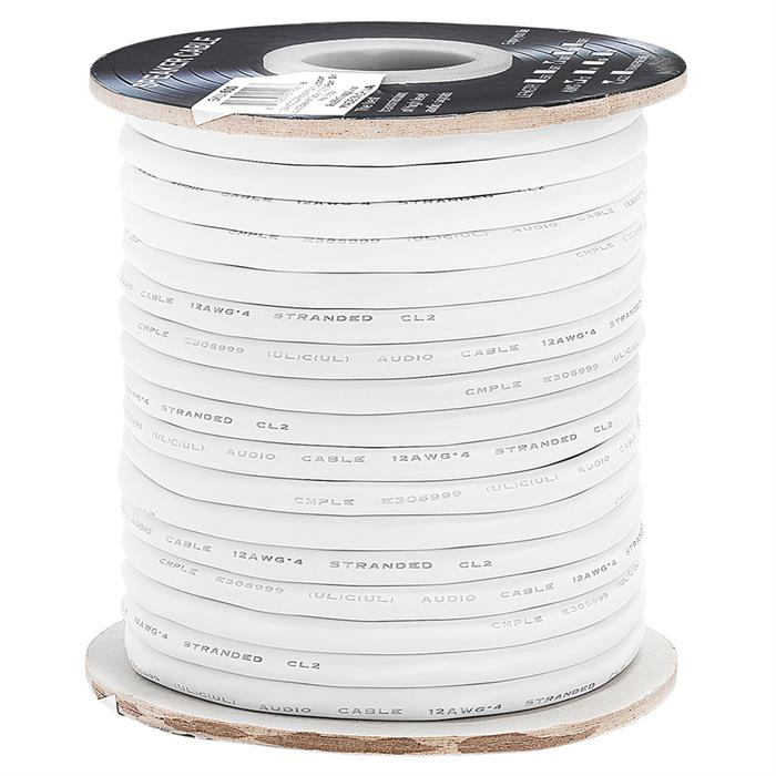 12AWG CL2-Rated Four-Conductor In-Wall Speaker Cable – 100 Feet
