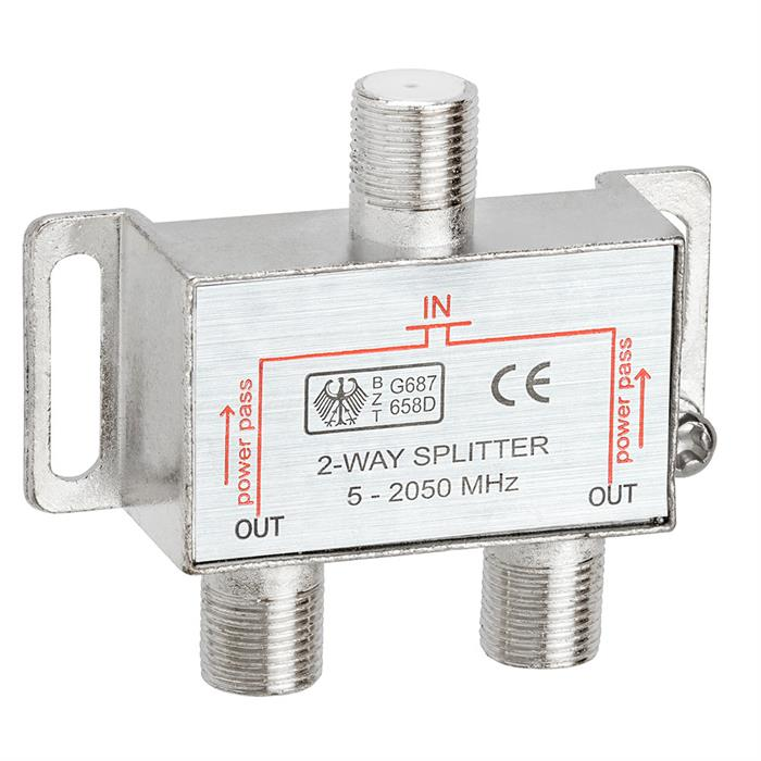 2-Way Splitter 5-2050MHz F-Type