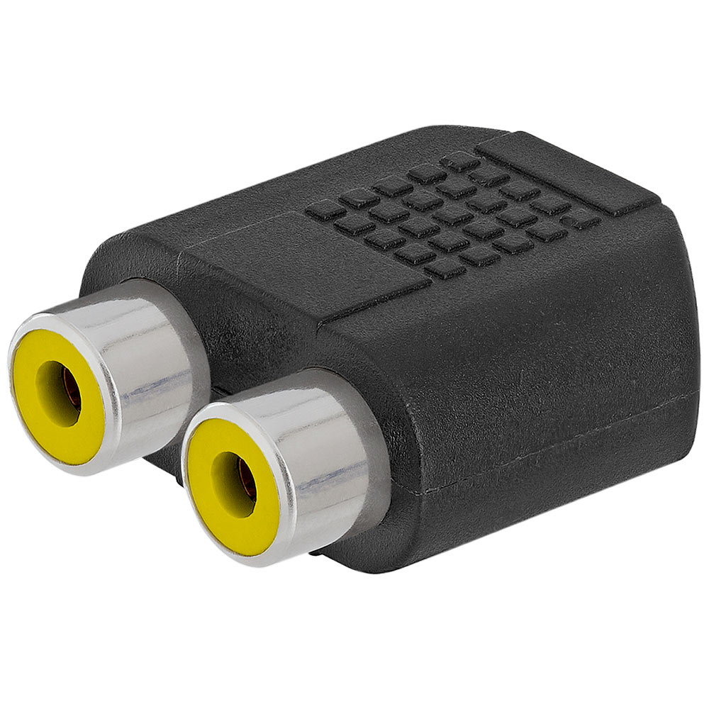 3.5mm Mono Jack to 2xRCA Jack Adapter - Straight