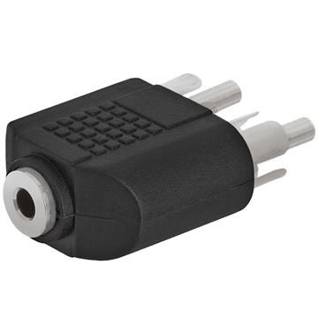 3.5mm Mono Jack to 2xRCA Plug Adapter - Straight