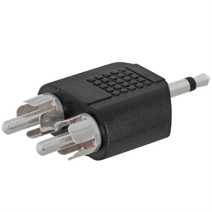 3.5mm Mono Plug to 2xRCA Plug Adapter - Straight