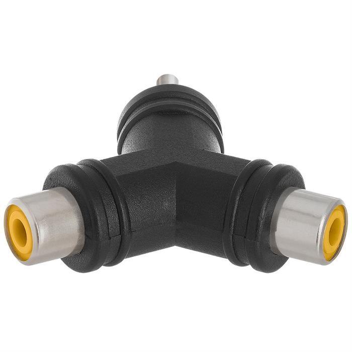 3.5mm Stereo Plug to 2 x RCA Jack Adapter - Triangular