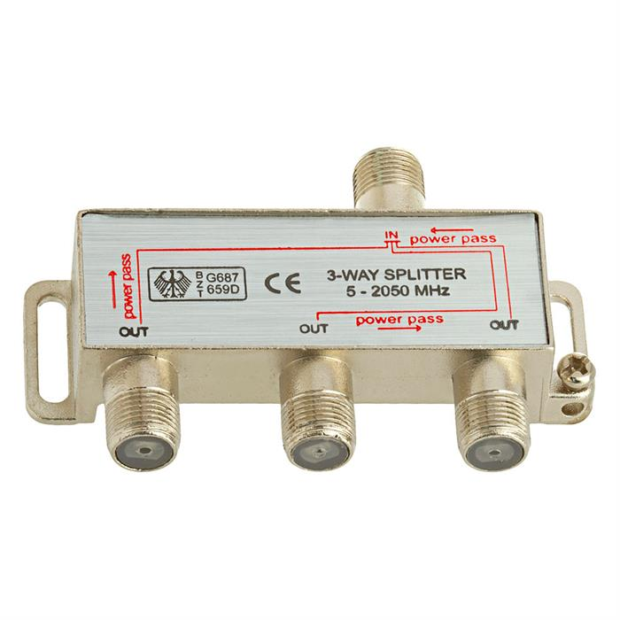 3-Way Splitter 5-2050MHz F-Type