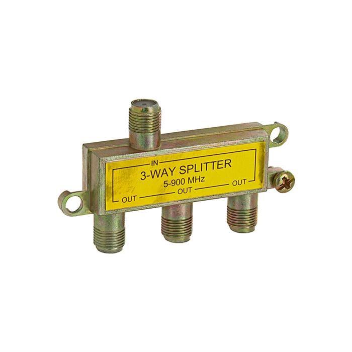 3-Way Splitter 5-900MHz F-Type Mini-Type