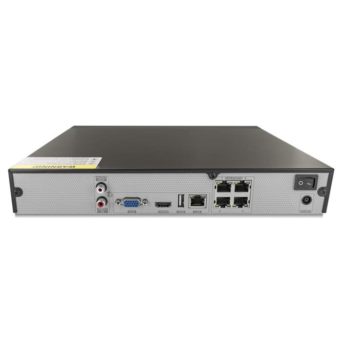 4 channel Network Video Recorder 4 Ch NVR with 4 Plug & Play Ports, 40 Mbps, 1 HD Bays, 4K