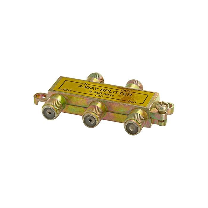 4-Way Splitter 5-900MHz F-Type Mini-Type