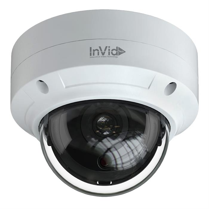 5 Megapixel IP Network Camera Plug & Play, 2.8mm Outdoor Vandal Dome, 65' IR Range, CVBS Output, WDR, Audio Input, PoE/12VDC