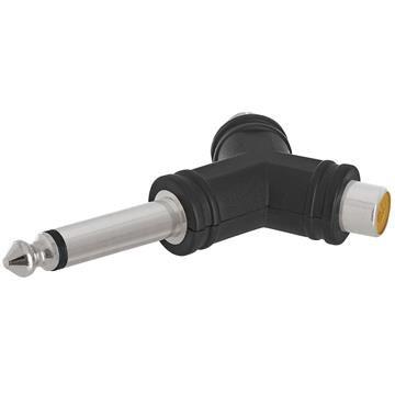 6.35mm Mono Plug to 2xRCA Jack Adapter - Triangular