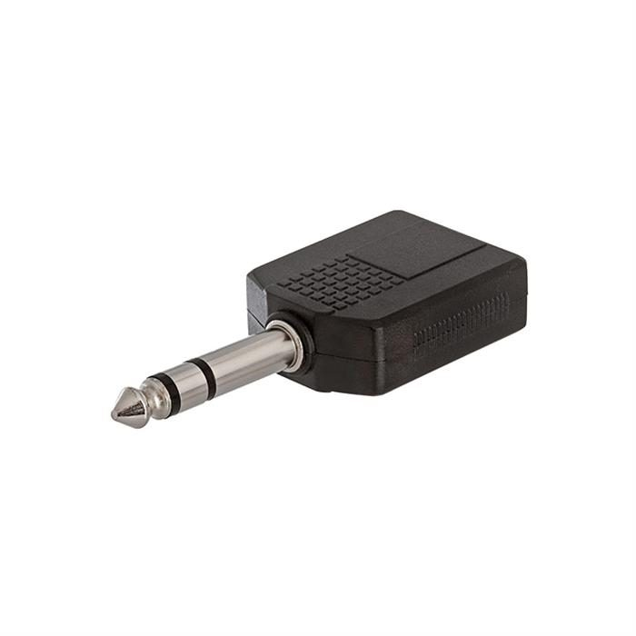 6.35mm Stereo Plug to 2x6.35mm Mono Jack Adapter