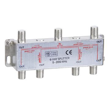 6-Way Splitter 5-2050MHz F-Type