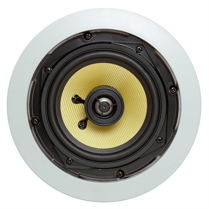 "5.25"" round ceiling speaker front view"