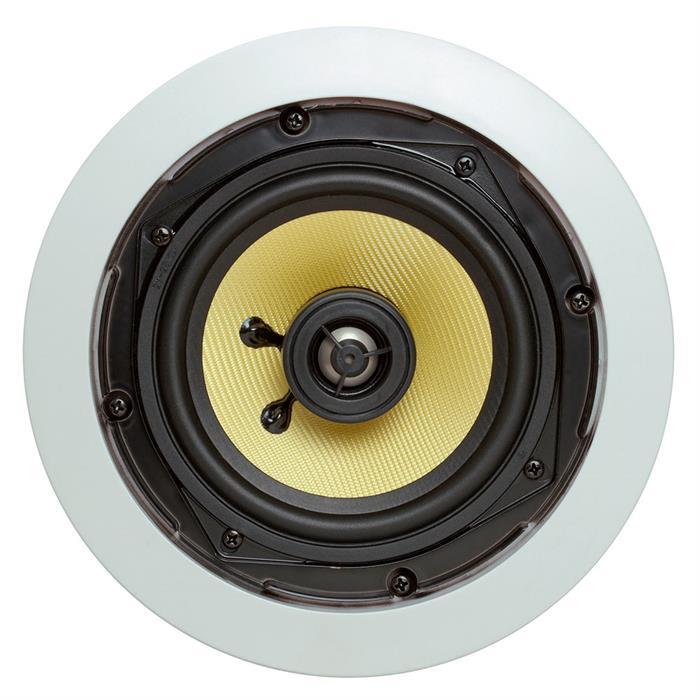 "5.25"" round ceiling speaker front view"