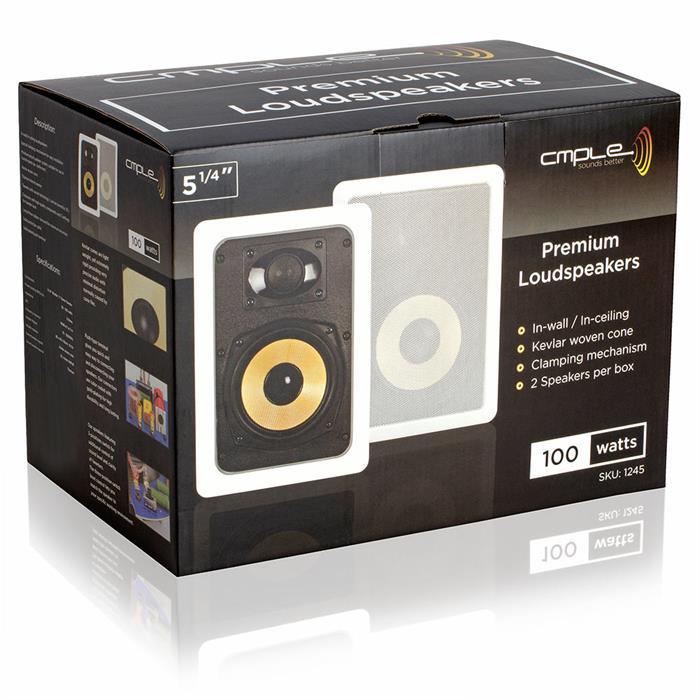 "5.25"" cmple speaker kevlar in wall box"