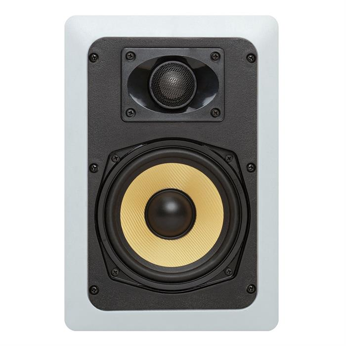 cmple 5.25 inch surround speaker in wall front view