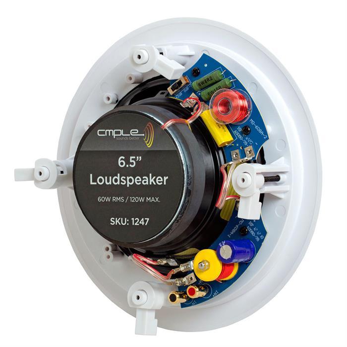 cmple round speaker in wall premium 6.5 inch back