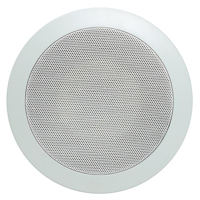 "cmple 6.5"" speaker round in wall grille view"