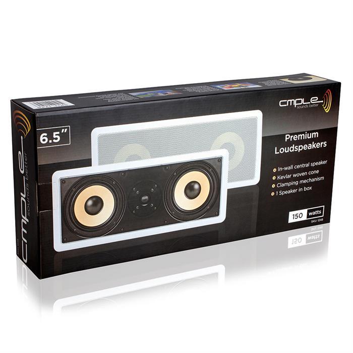 2-way 6.5 inch speaker in wall 600 Watt box