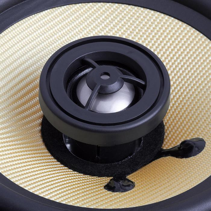 "in wall 6.5"" round speaker surround round tweeter"