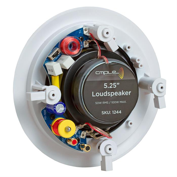 5.25 inch round speaker in ceiling inch back