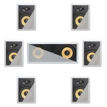 7.1 In-Wall In-Celing Speaker System Kevlar Speakers Power Peak 1500 Watts