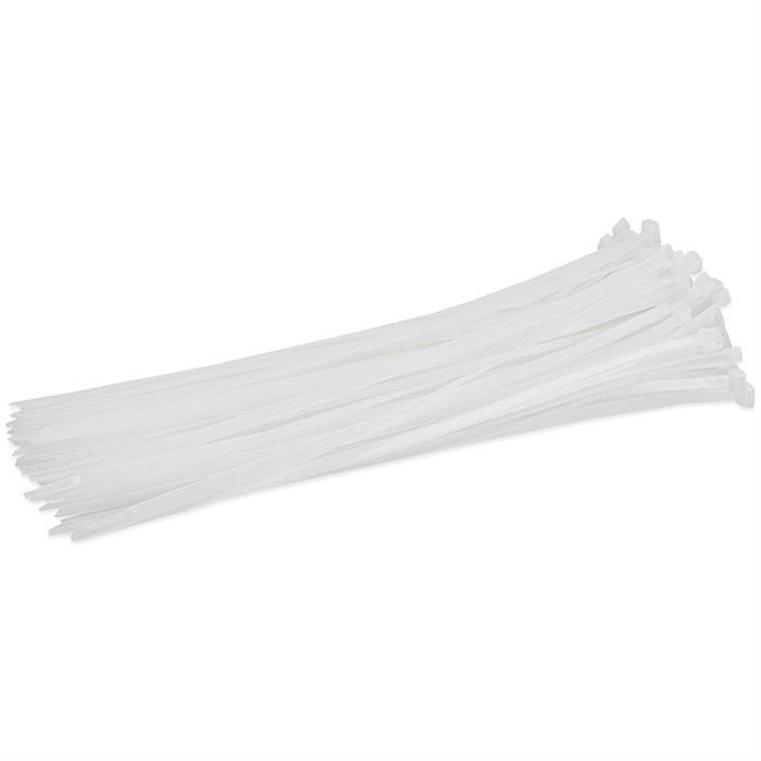 "8"" 40-lbs Cable Tie, Pack of 100 - Clear"