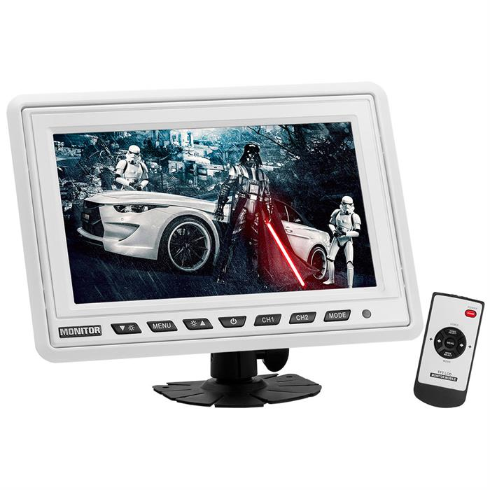9 Inch Headrest TFT LCD Monitor White