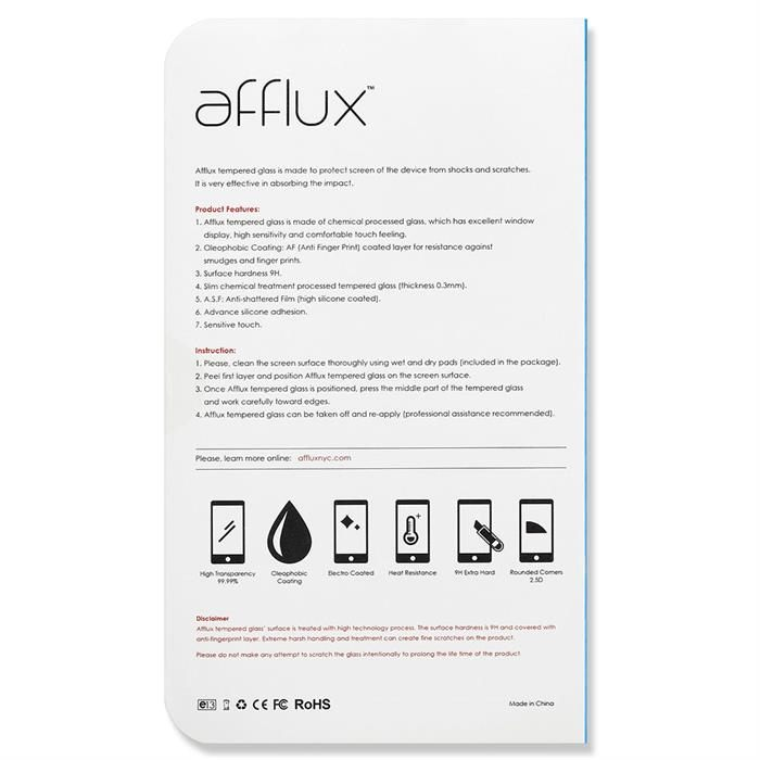 Afflux Premium Real Tempered Glass Screen Protector For Galaxy Note 4