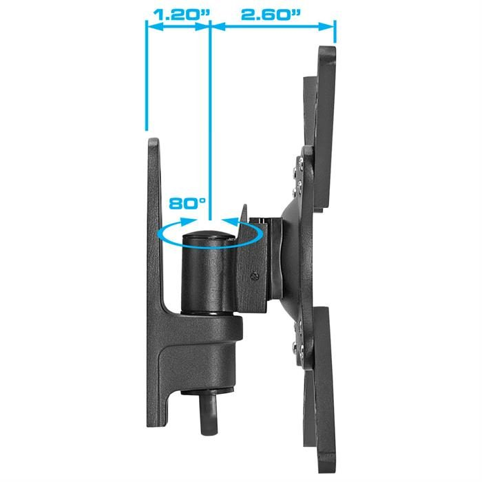 "Side view - Full Motion Wall Mount For 10""-23"" TV"