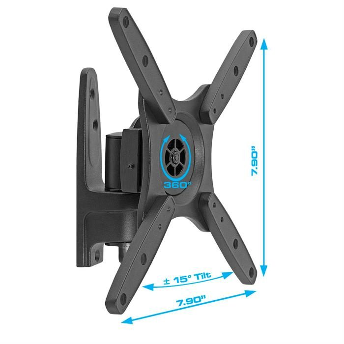 "Dimensions - Full Motion Wall Mount For 10""-23"" TV"