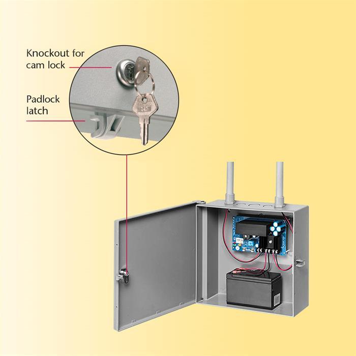 "Arlington™ EB1111 Heavy-Duty Non-Metallic Enclosure Box (11"" x 11"" | Gray)"