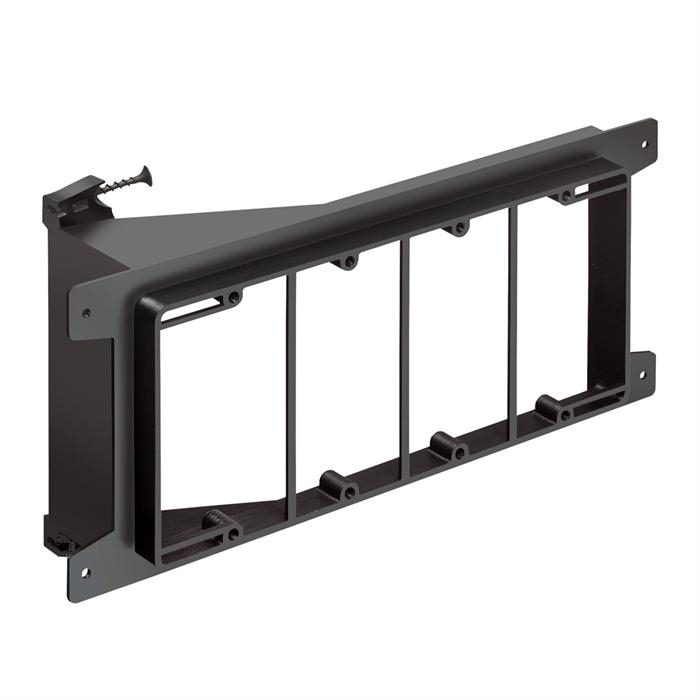 Arlington™ LVS4 Four-Gang Screw-On Low Voltage Bracket for New Construction