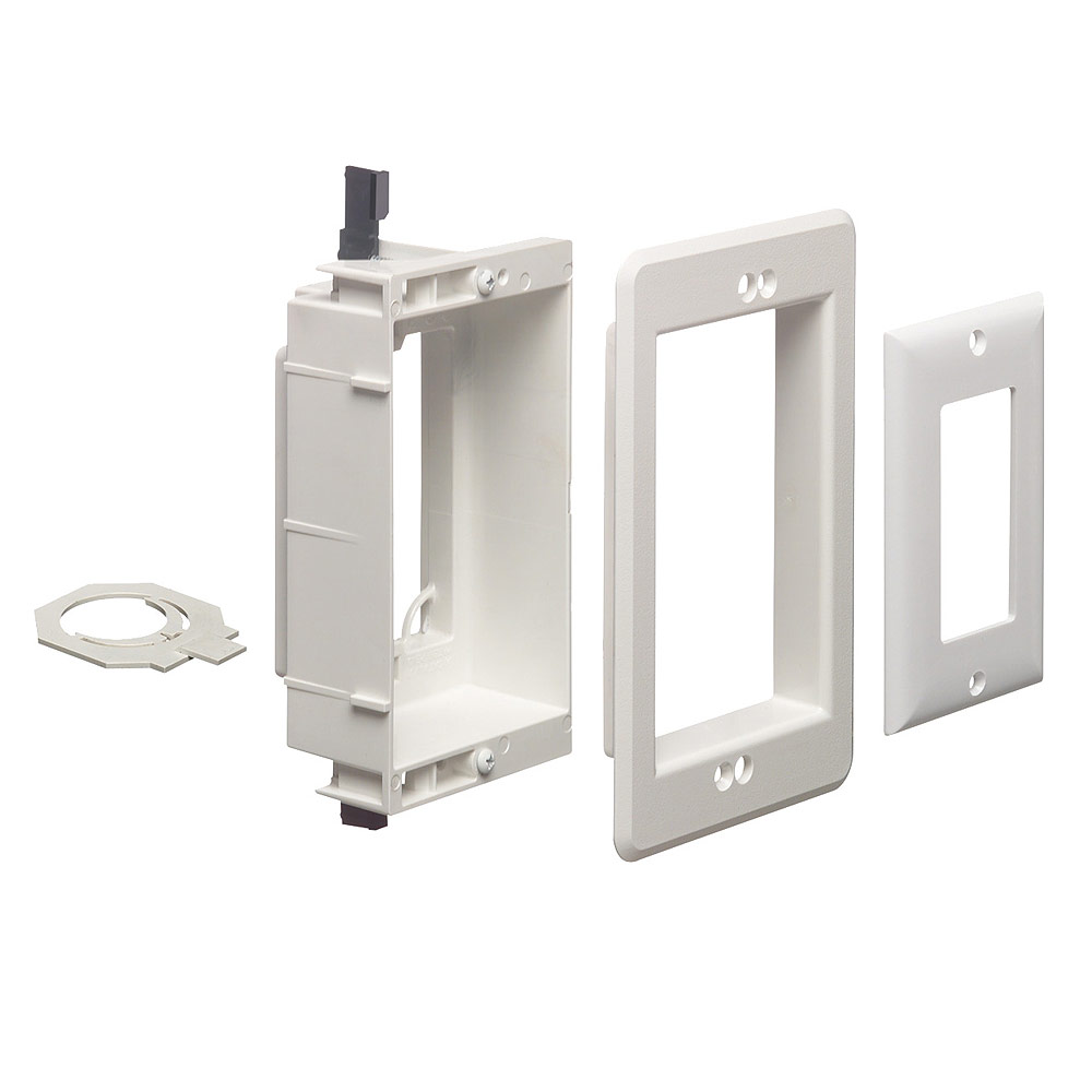 Low Voltage Electrician : Arlington™ lvu w single gang recessed low voltage