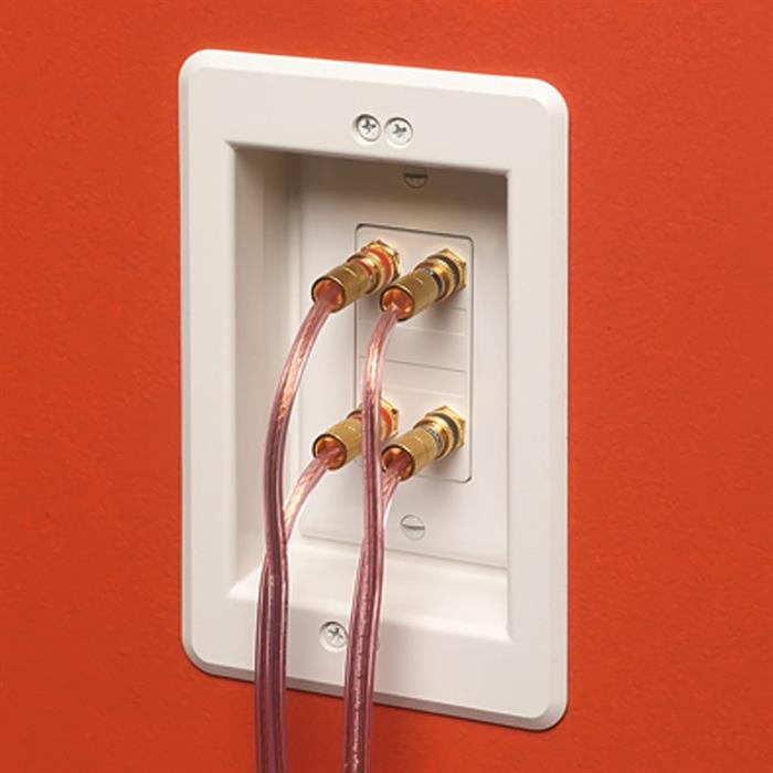 Arlington™ LVU1W Single Gang Recessed Low Voltage Electrical Box