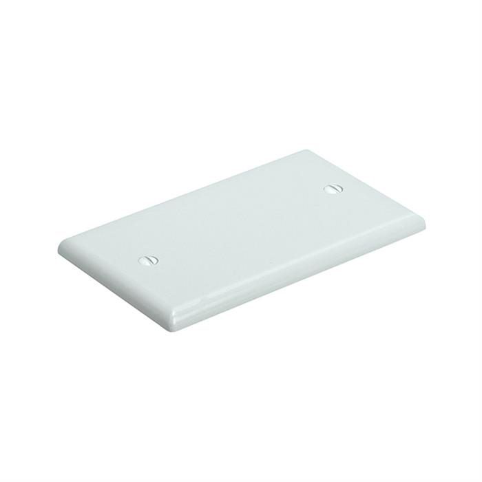 Blank 1 Gang Thermoplastic Panel Wall Plate (GFCI), White