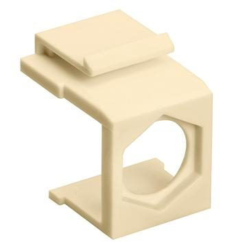 Blank Insert For F Type Connector - 10pcs Pack Ivory