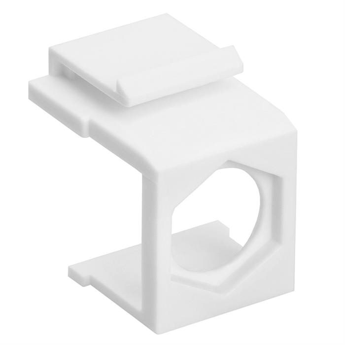 Blank Insert For F Type Connector - 10pcs Pack White