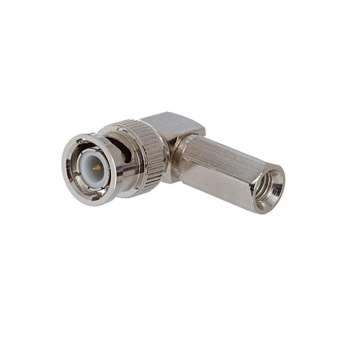 BNC Male Right Angle Clamp Connector for RG-6